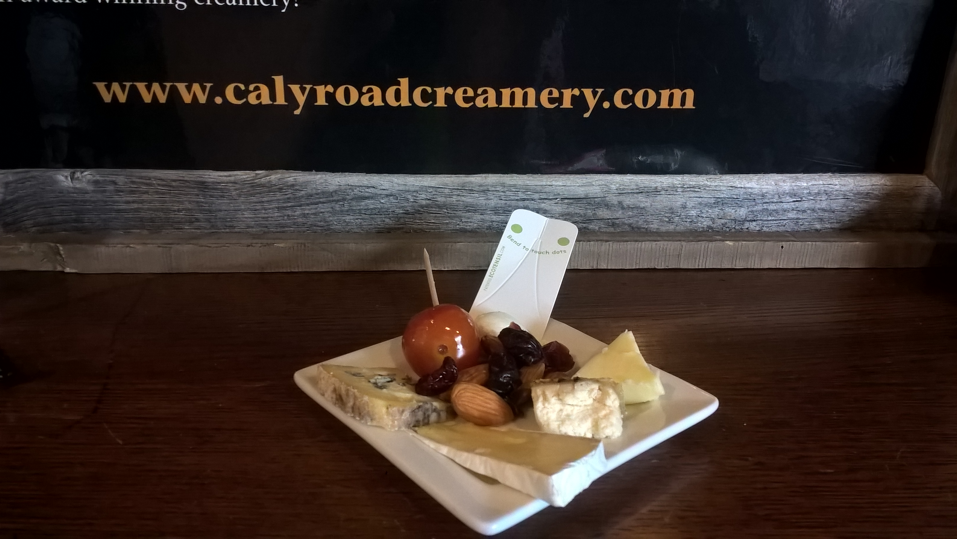 Cheese sampler at CalyRoad Creamery
