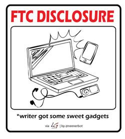 FTC Disclosure - writer got items