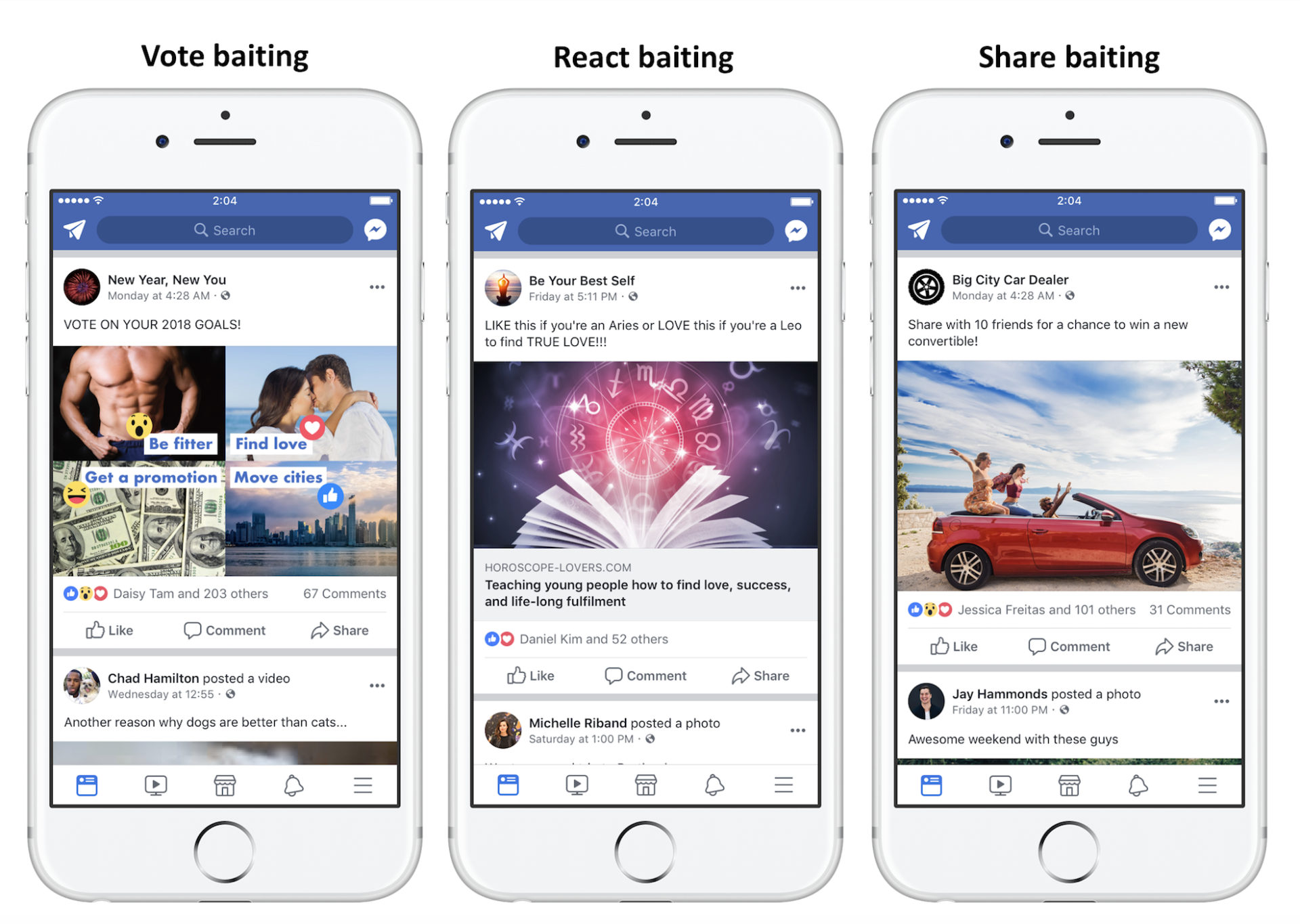 Engagement Bait On Facebook? Not Anymore!