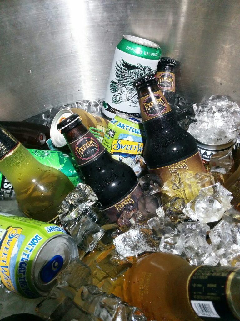 Beer on Ice at The Big Green Egg Culinary Center for the Cast Iron Cooking Class